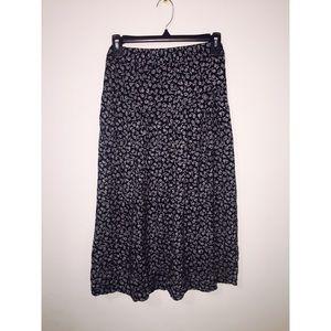 vintage pioko tea-length skirt
